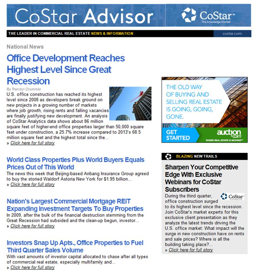 Commercial Real Estate Investmets-the cinderella again?--CoStar Advisor